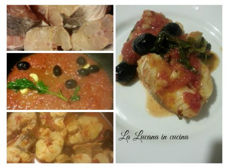 Merluzzo al pomodoro e olive nere