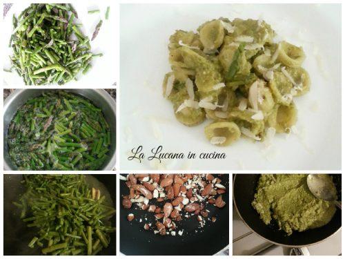 Orecchiette alla crema di asparagi e mandorle