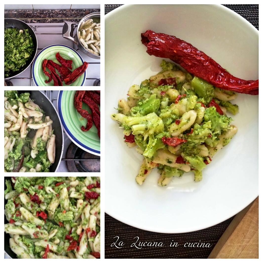 Cavatelli con broccoli e peperoni cruschi