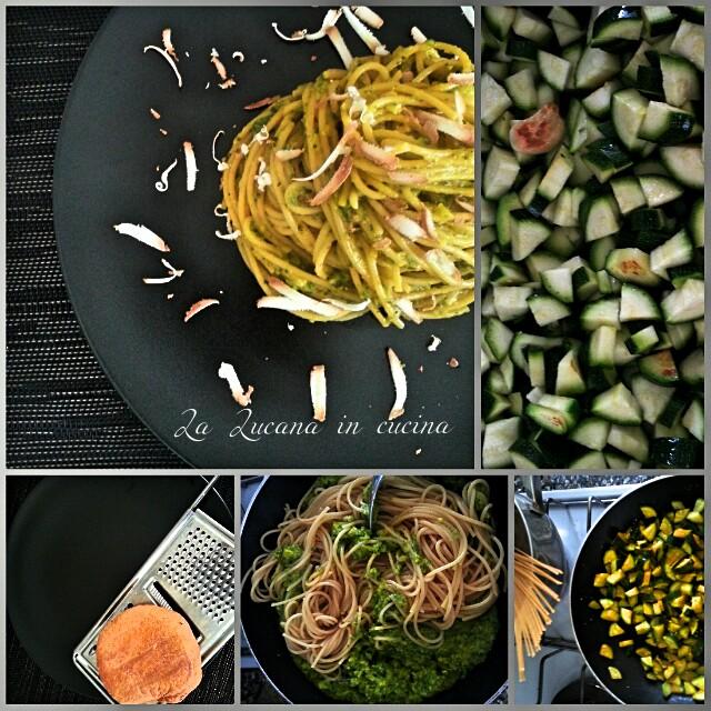 Spaghetti zucchine, curcuma e ricotta affumicata