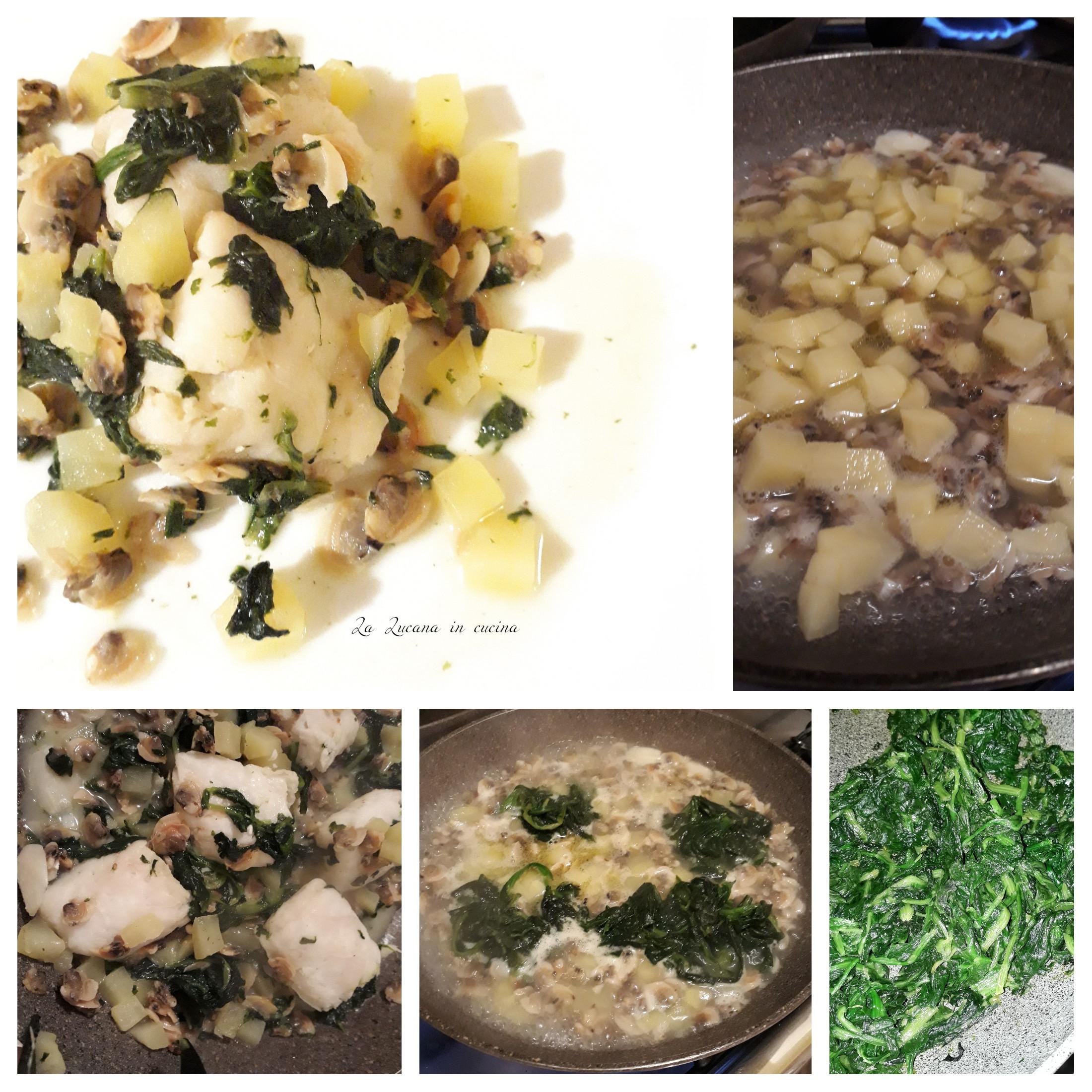 merluzzo con vongole cicoria e patate