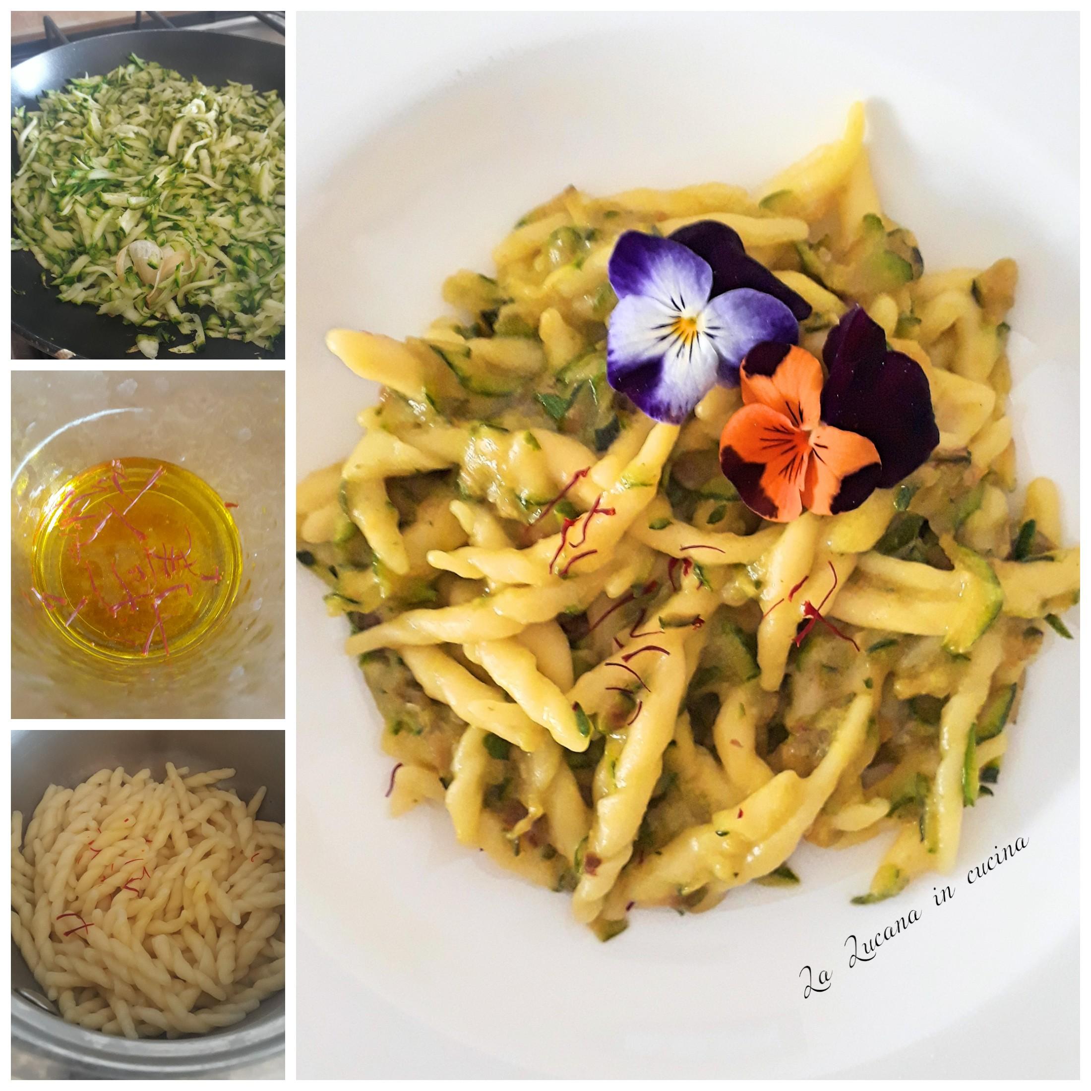 Pasta con zafferano e zucchine