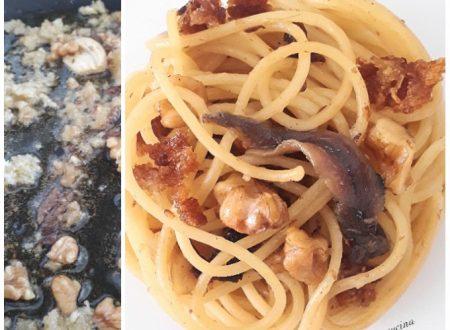 Spaghetti alici e noci