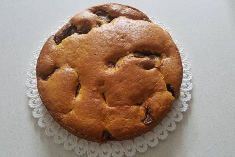 Torta morbida ricotta e nutella