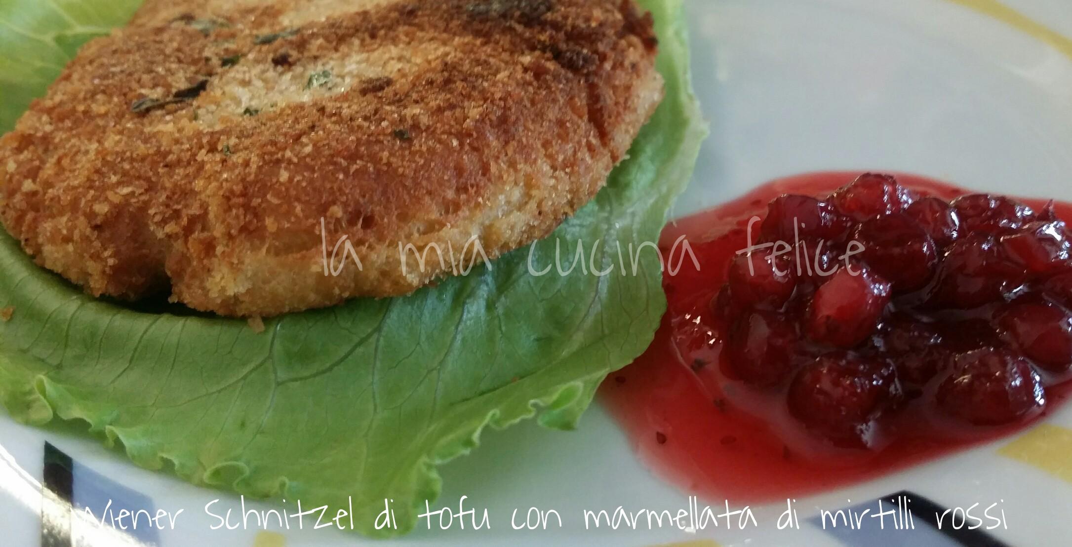 Wiener Schnitzel di tofu con marmellata di mirtilli rossi 3