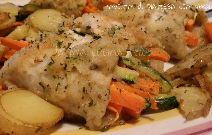 Involtini di platessa con verdure