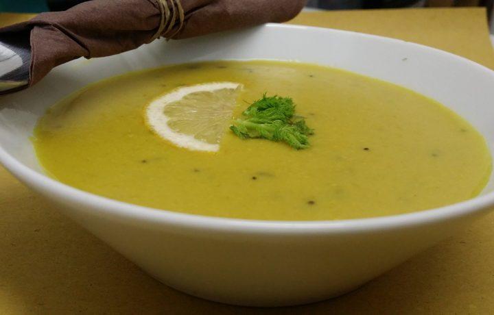 Zuppa di piselli all'indiana di Martha Stewart