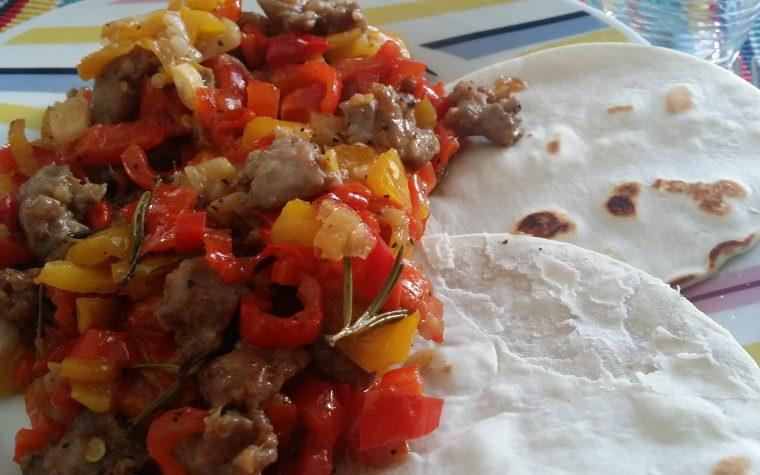 Salsiccia di tacchino e peperoni