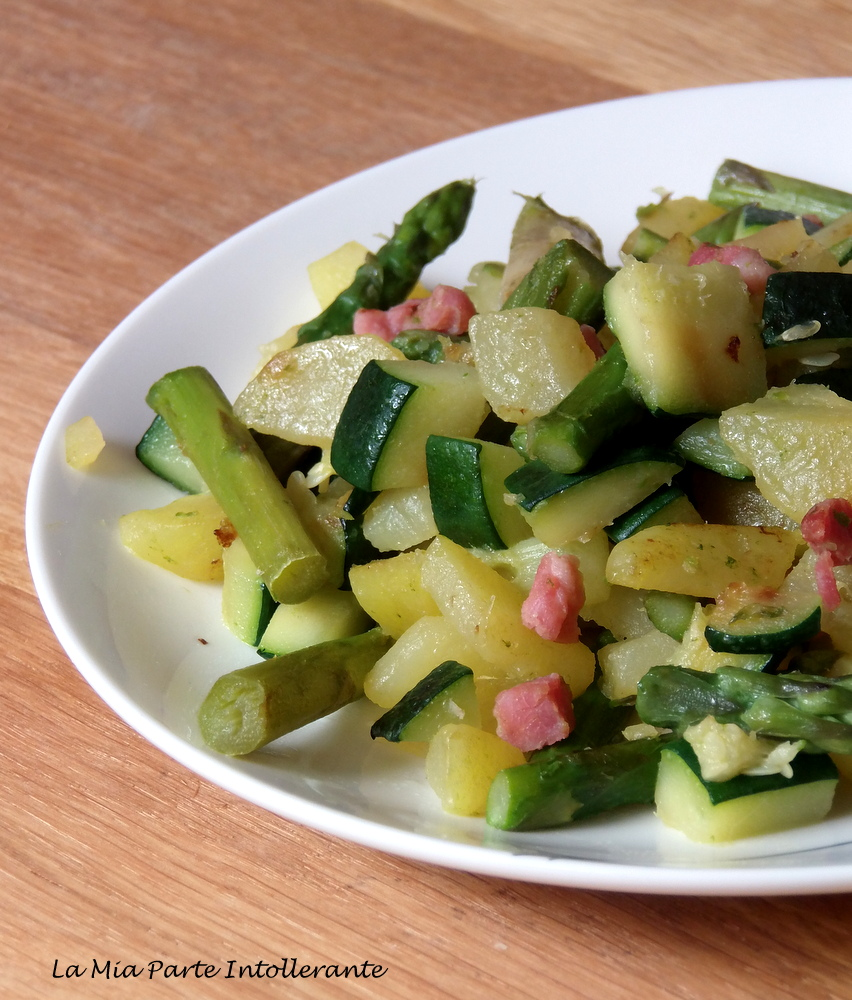 Contorno di asparagi e pancetta