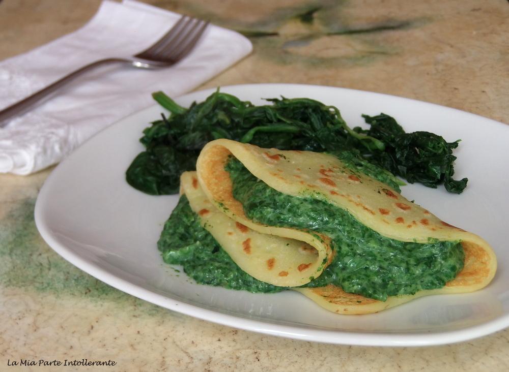 crepes vegan senza glutine con spinaci
