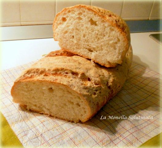 Filoncino di pane senza glutine