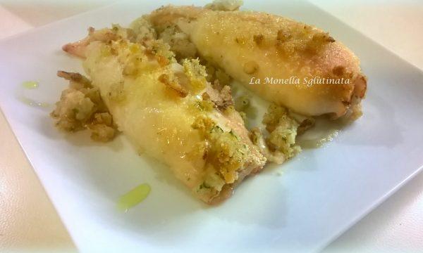 Calamari ripieni gratinati al forno senza glutine