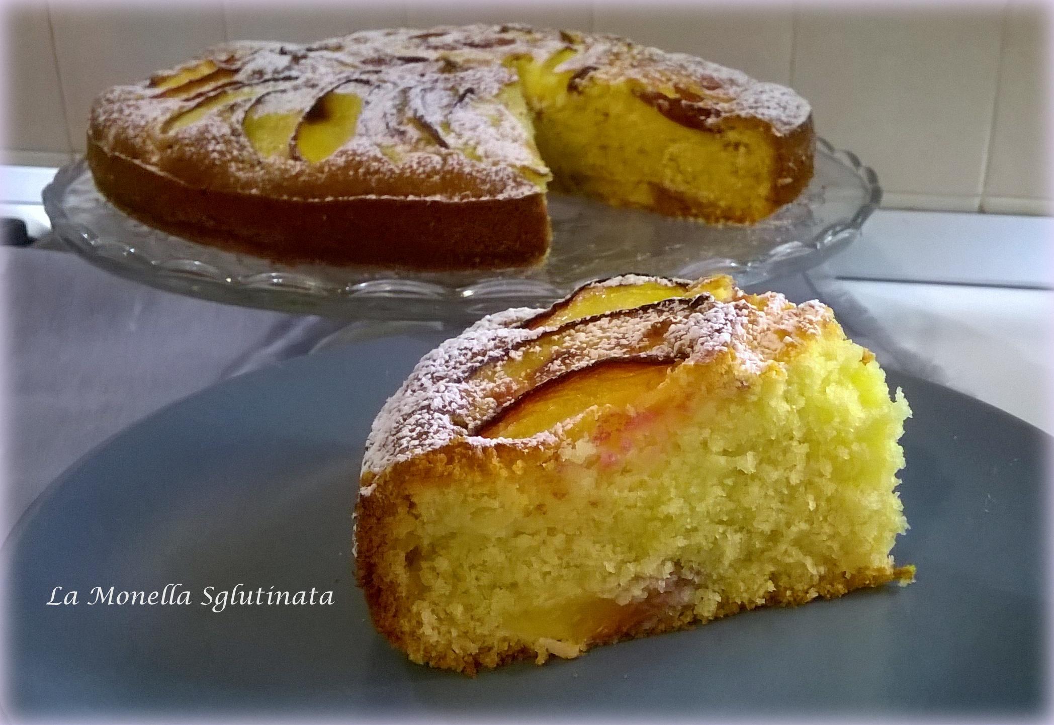 Torta sofficissima panna e noci pesche