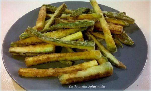 Bastoncini di zucchine fritti senza glutine