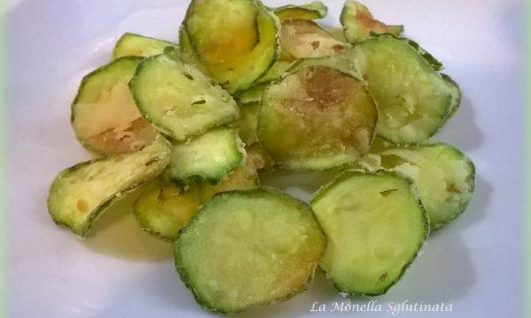 Rondelle di zucchine saporite senza glutine