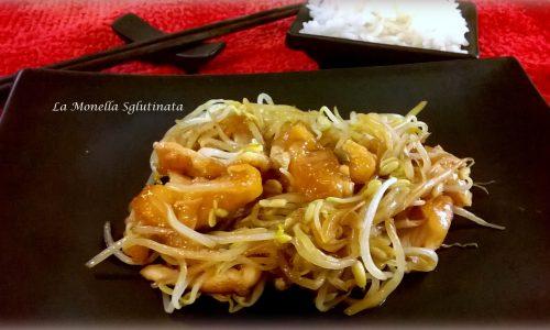 Pollo con germogli di soia senza glutine