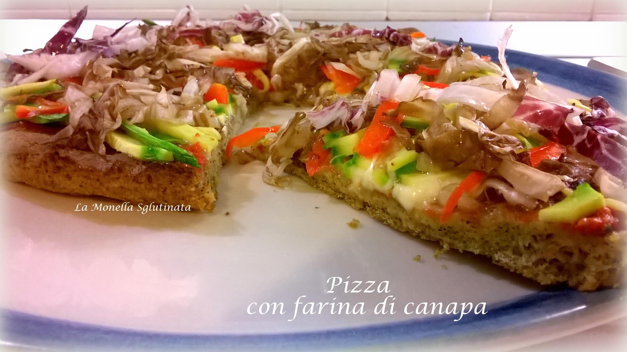 Pizza con verdure croccanti con farina di canapa
