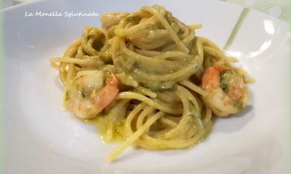 Spaghetti con asparagi e mazzancolle