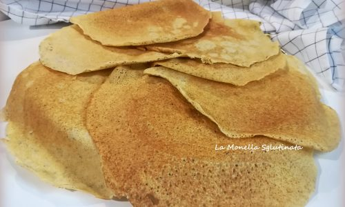 Crepes con farine  di saraceno e riso