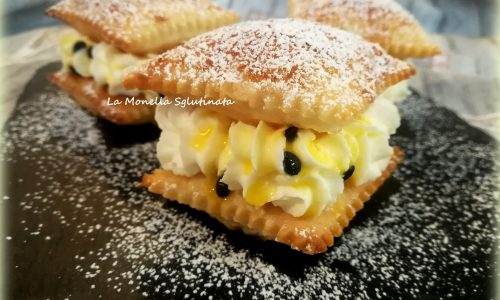 Sfogliatine con panna e passion fruit senza glutine
