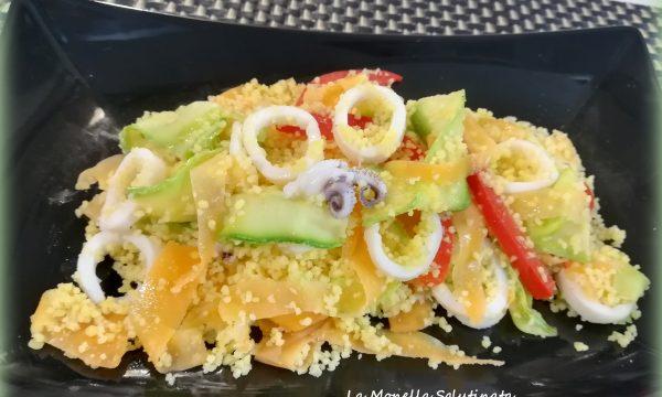 Cous cous di calamari e verdure croccanti