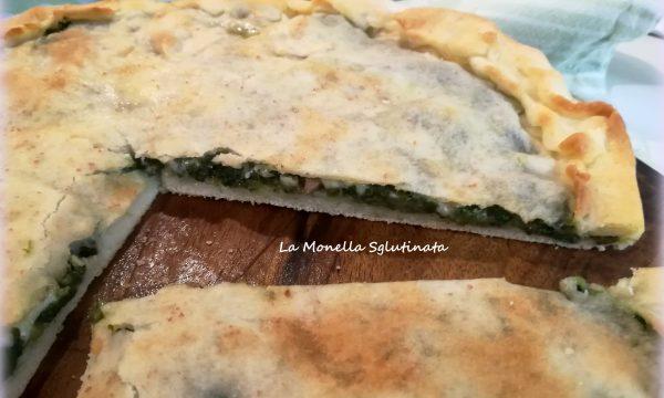 Focaccia ripiena di borragine,olive e mozzarella