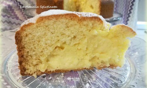 Torta nua con crema senza glutine