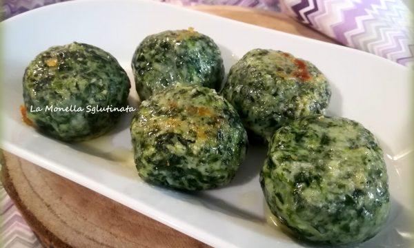 Malfatti di spinaci e ricotta  senza glutine