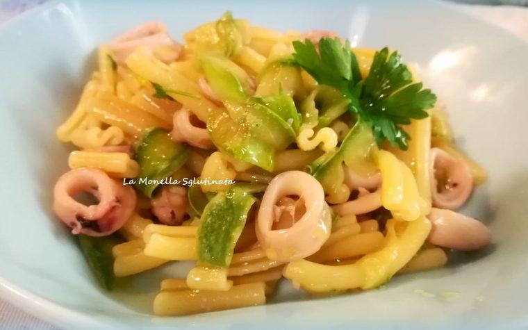 Caserecce con totani e zucchine