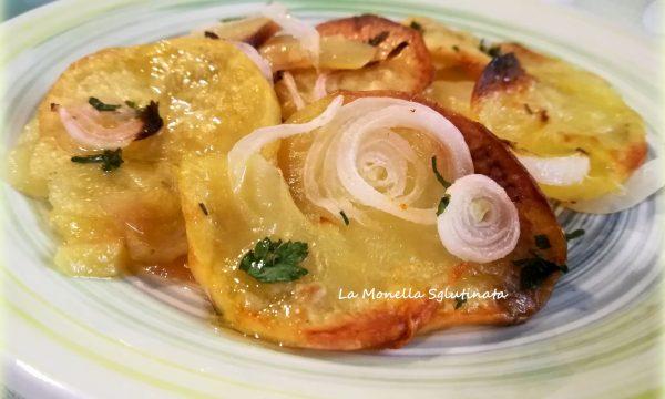 Patate al forno con cipolle della monella
