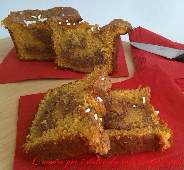 Plumcake con farine integrale e glassa alle nocciole