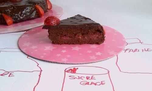 Torta cioccolato e fragole