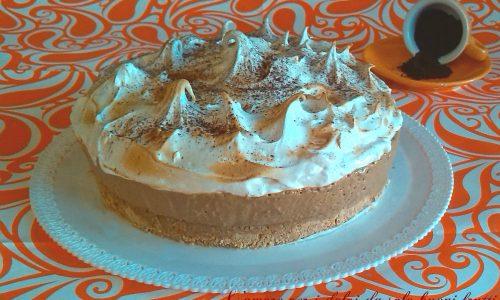 Cheesecake al caffè meringata