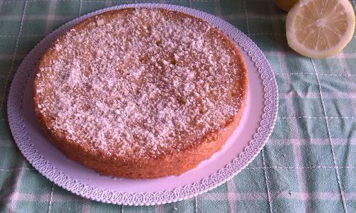 Torta Caprese al limone e limoncello