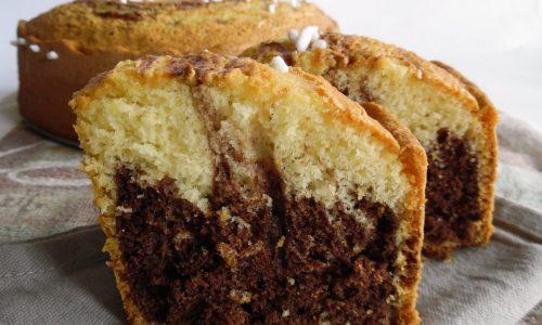 Torta bicolore all'olio