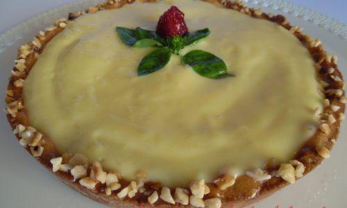 Crostata con crema al limone e basilico