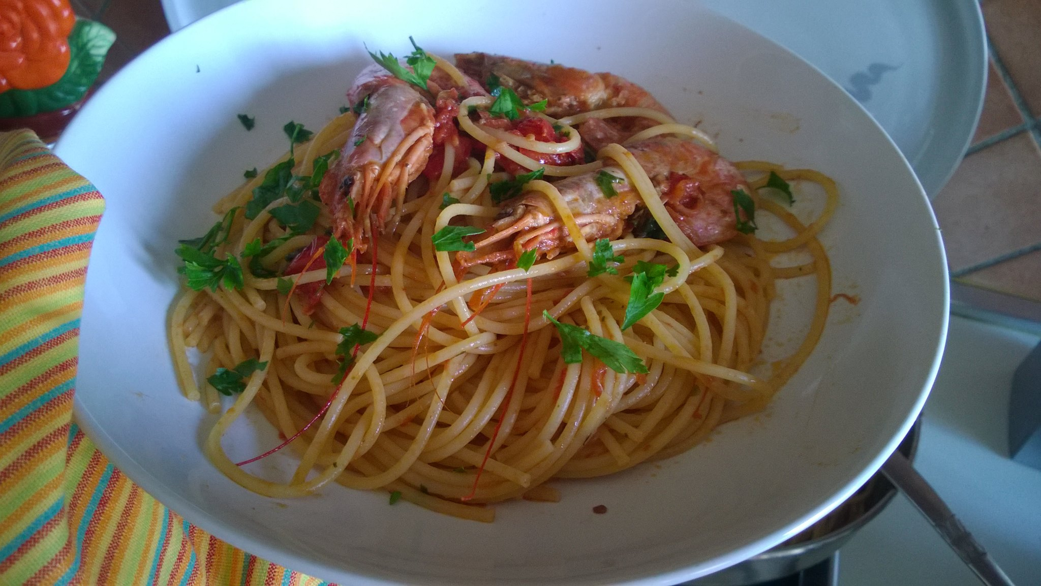 Spaghetti ai gamberi rossi