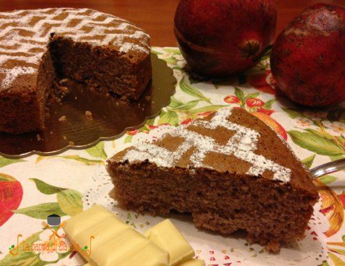 Torta al succo di melograno e cioccolato bianco