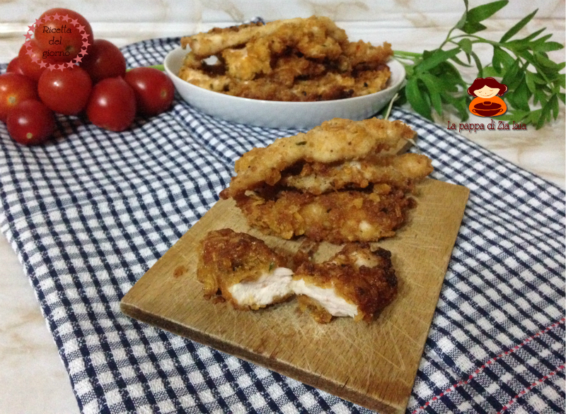 Straccetti di pollo impanati croccanti