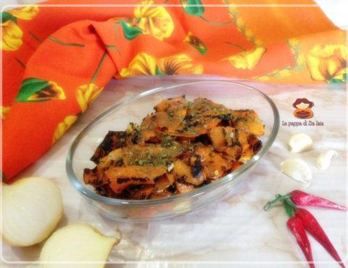 Zucca grigliata condita ricetta facile