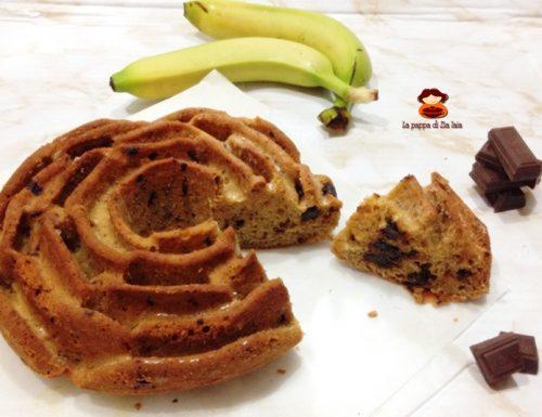 Torta banane e cioccolato fondente