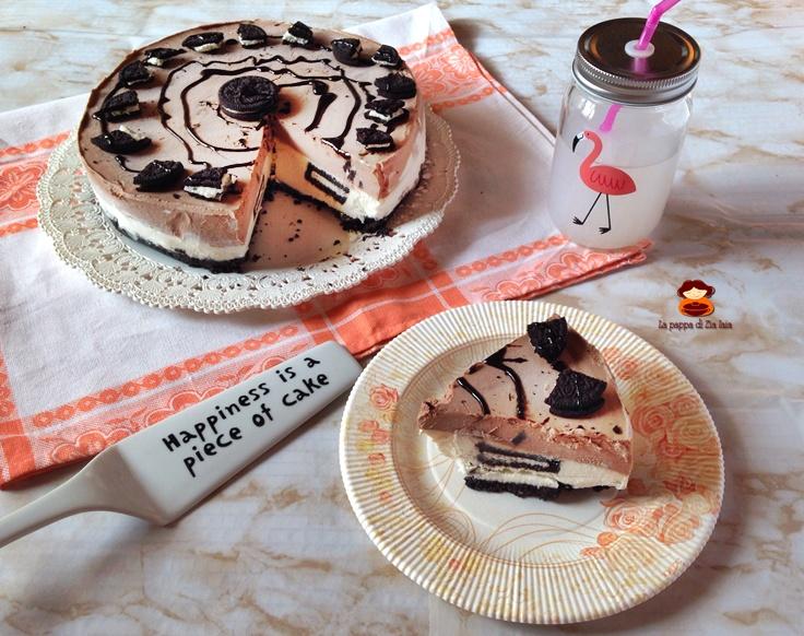 Black and white Oreo Cheesecake