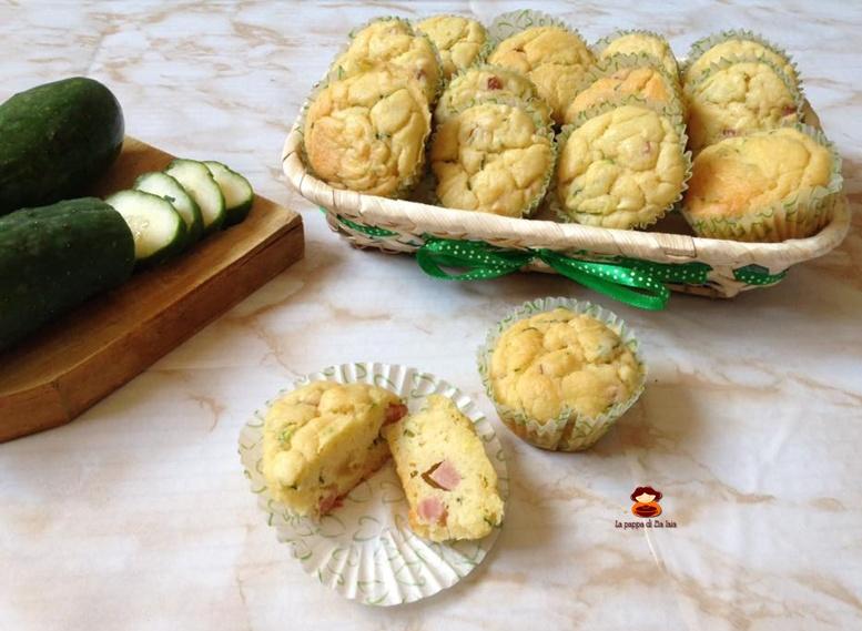 Muffin zucchine mortadella e formaggini