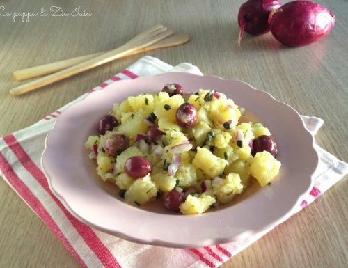Patate con olive nere e capperi