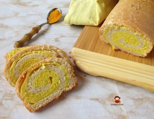 Pan bauletto variegato alla curcuma