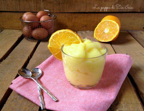 Crema pasticcera all'arancia con succo d'arancia ricetta facile
