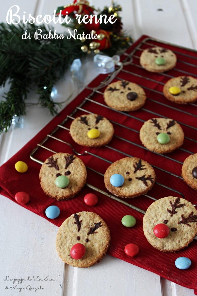 Biscotti Classici Di Natale.Biscotti Renna Di Babbo Natale La Pappa Di Zia Iaia
