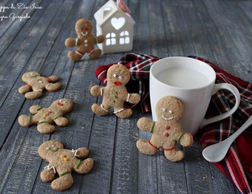 Omini di pan di zenzero biscotti natalizi