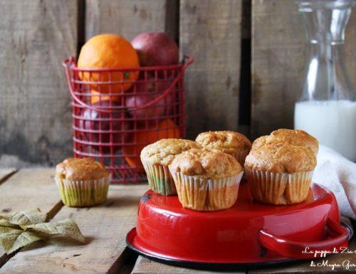 Muffin mela e arancia con farina integrale