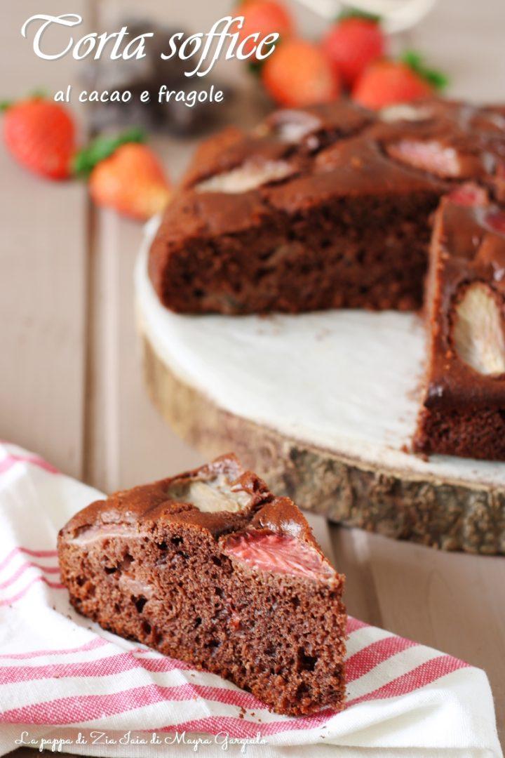 torta soffice al cacao e fragole